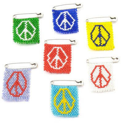 Beaded Peace Pin