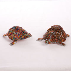 Bead and Wire Reptile Ornament - Tortoise