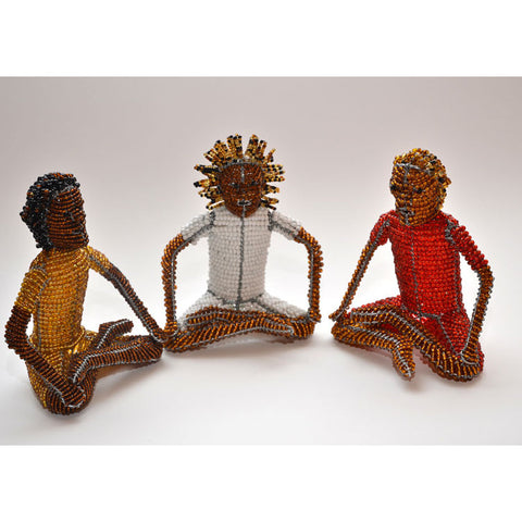 Bead and Wire Art - Yogi sculpture