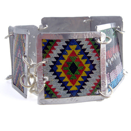 Mixed South African Beadwork Images Bracelet by Beverly Price