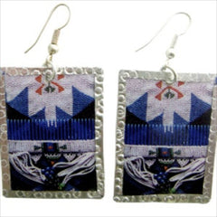 Blue Beadwork Image Earrings by Beverly Price