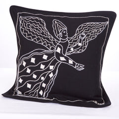 Embroidered Angel Cushion Cover #1