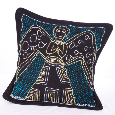 Embroidered Angel Cushion Cover #2