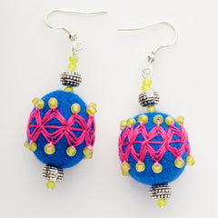 Felt Beaded Earrings