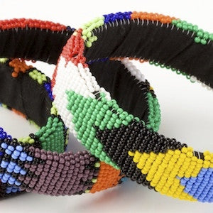 Beaded Zulu Flat Bangle