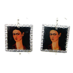 Frida Kahlo Earrings #3 by Beverly Price