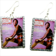 Lady in Hotpants Image Earrings by Beverly Price