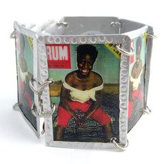 Lady in Red Knee Shorts Images Bracelet by Beverly Price