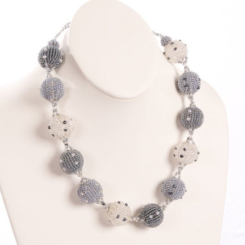 Beaded Ball Necklace - Large