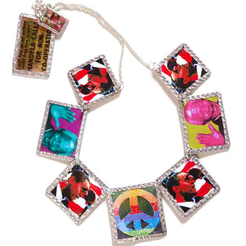 Obama Mandela Necklace - Looking Over the Rainbow