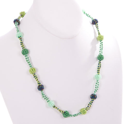 Beaded Ball Necklace - Small