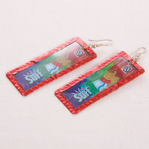 Surf Detergent Image Earrings by Beverly Price