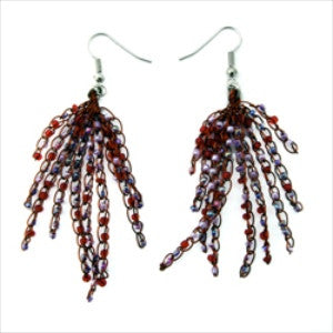 Wire and Bead String Earrings