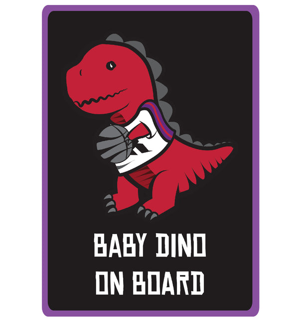 Baby Dino on Board Rectangle Decal (2 Pack)