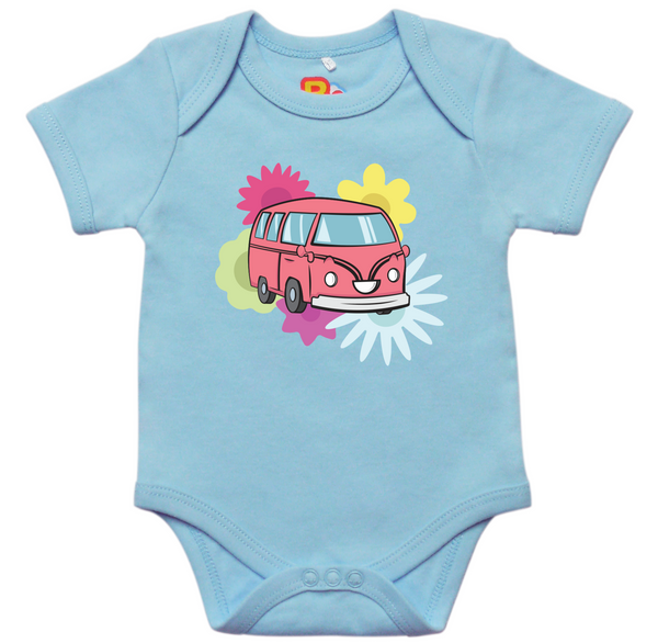 Blossom the Bumpy Bus loves Flowers Onesie