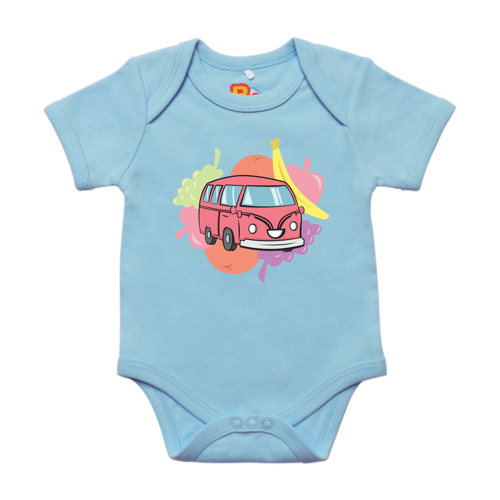 Blossom the Bumpy Bus loves Fruits Baby Bodysuit