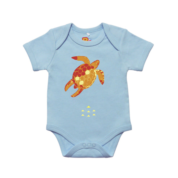Contemporary Turtle Baby Bodysuit