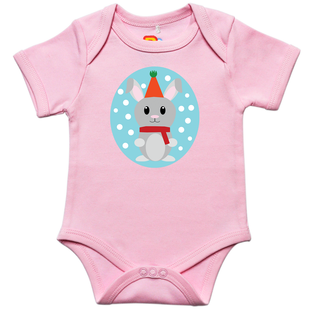 Bunny with Hat Baby Bodysuit