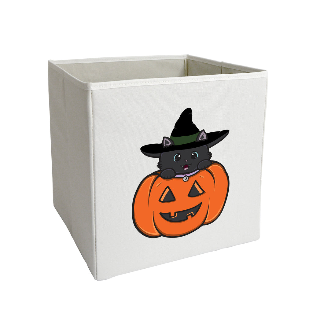 Cat Pumpkin Storage Bin