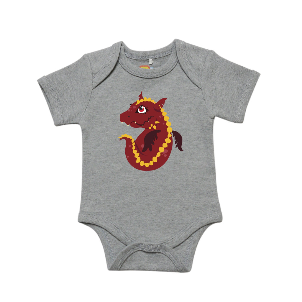 Ferocious Fire Dragon Baby Bodysuit