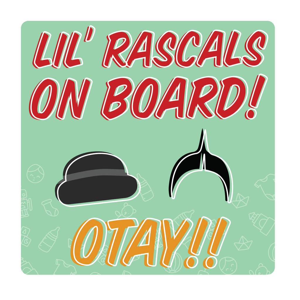 Lil Rascals on Board Decal (2 Pack)