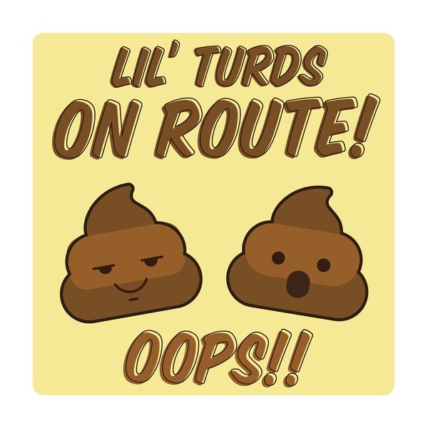 Lil Turds On Route Decal (2 Pack)