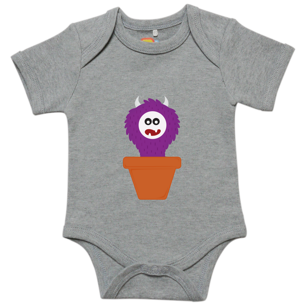 Purple Sprouting Monster Baby Bodysuit