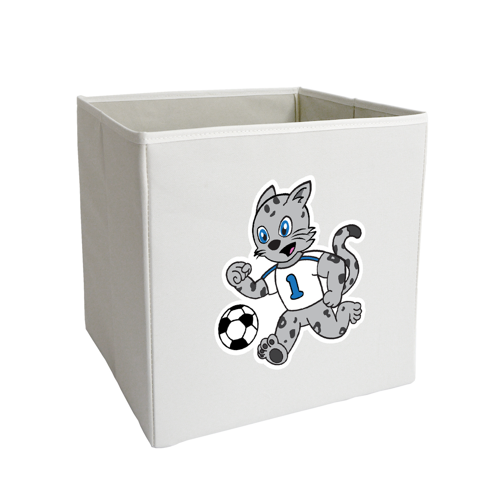 Snow Leopard and Soccer Storage Bin
