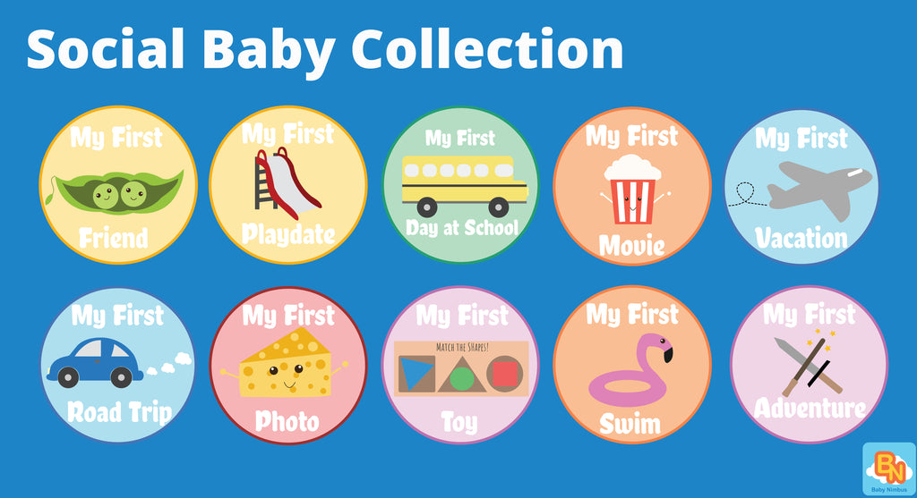 #TummyTag Stickers Social Baby Collection