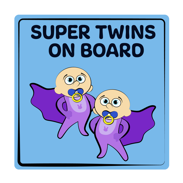 Super Twins On Board Decal (2 Pack)