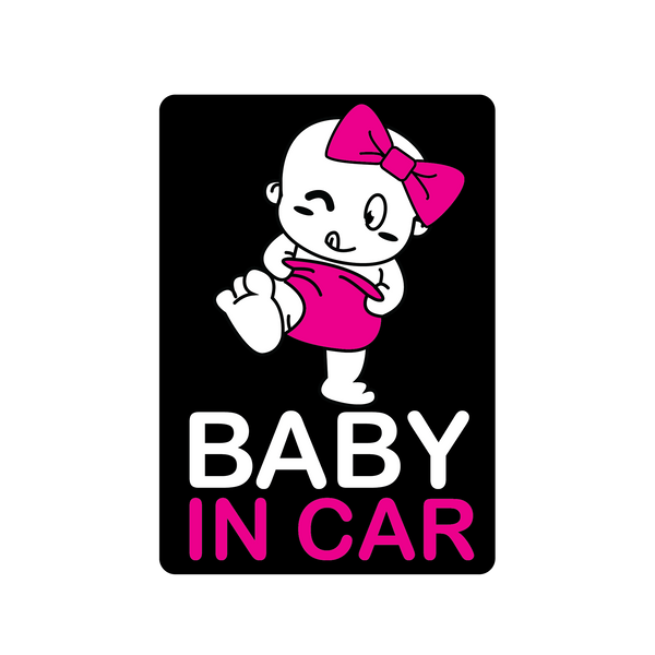 Pink Diaper Baby Car Decal (Two Pack)