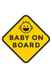 Baby on Board Car Decal Set (3 Pack, 3 Designs)
