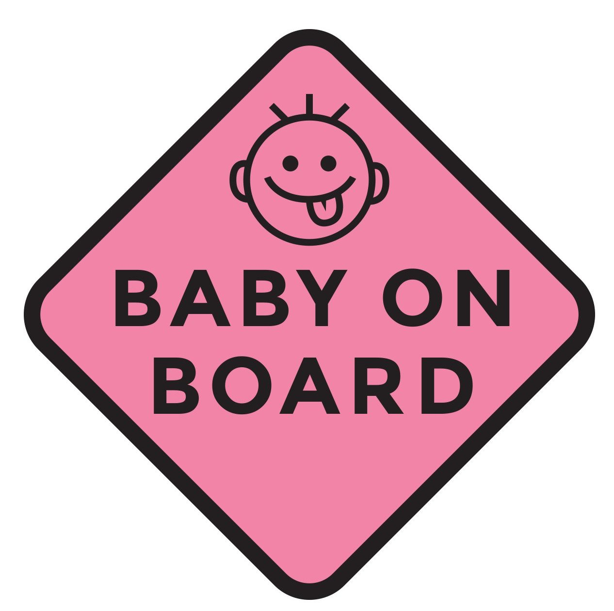 silly pink baby on board car decal two pack