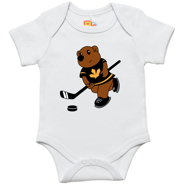 Bear and Hockey Onesie