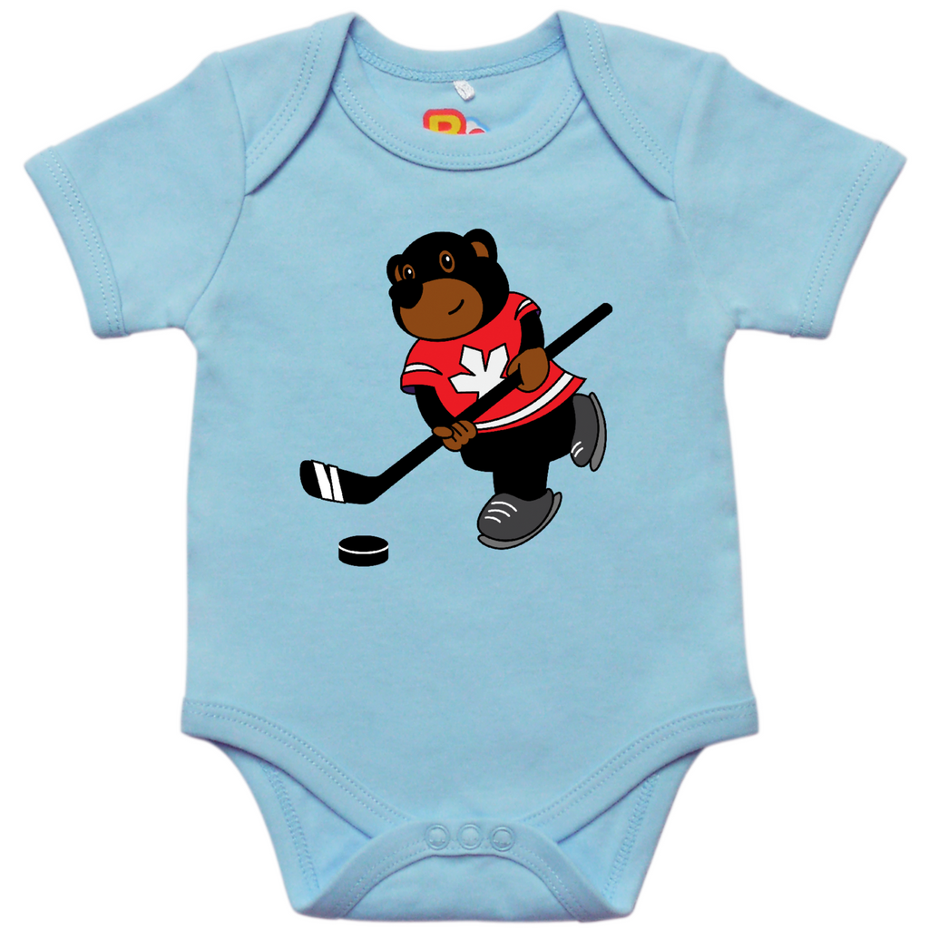 Grizzly and Hockey Baby Bodysuit