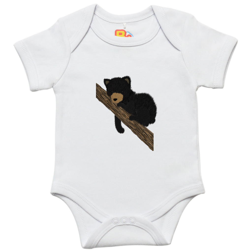 Black Bear Cub Baby Bodysuit