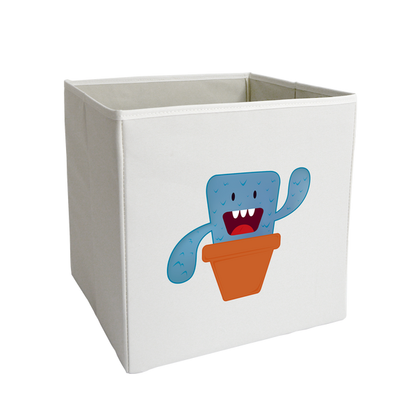 Blue Sprouting Monster Storage Bin