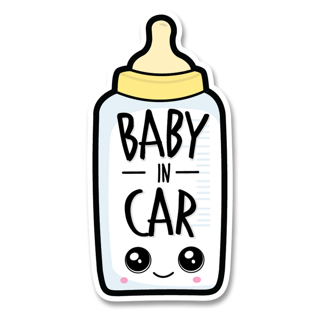 Bottle Baby in Car Decal (Two Pack)