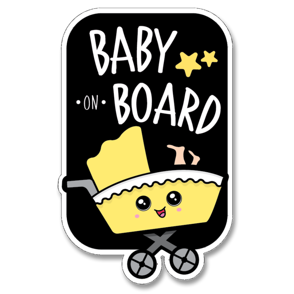 Baby on Board Stroller in Car Decal (Two Pack)