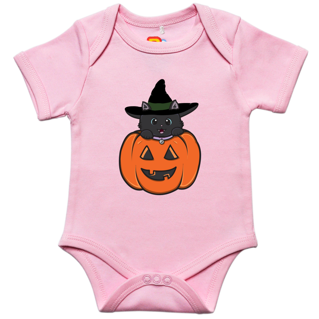 Cat Pumpkin Baby Bodysuit