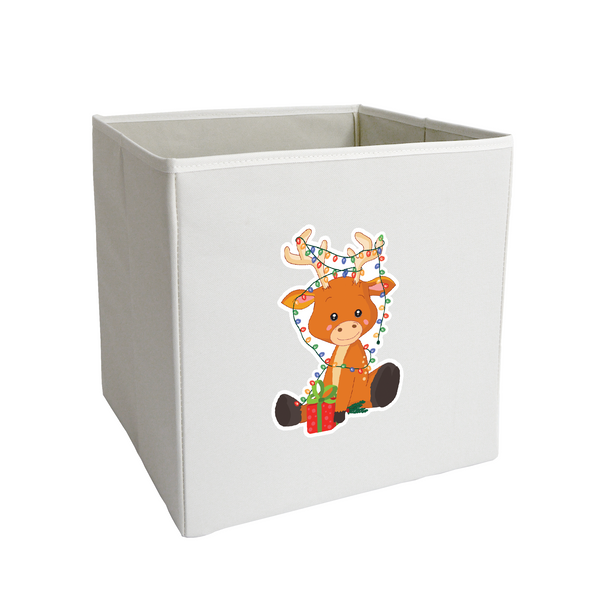 Christmas Deer Storage Bin