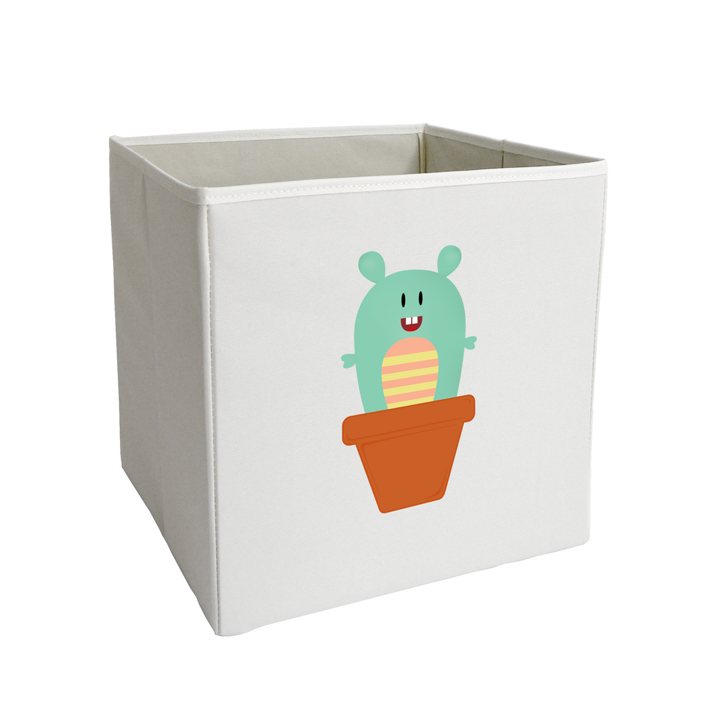 Teal Sprouting Monster Storage Bin