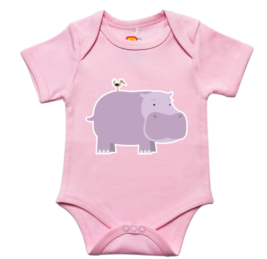 Hippo and Friend Baby Bodysuit