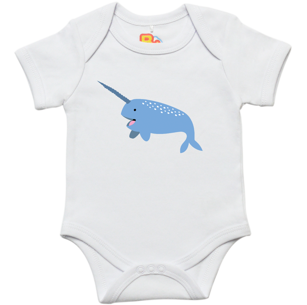 N is for Narwhal Baby Bodysuit