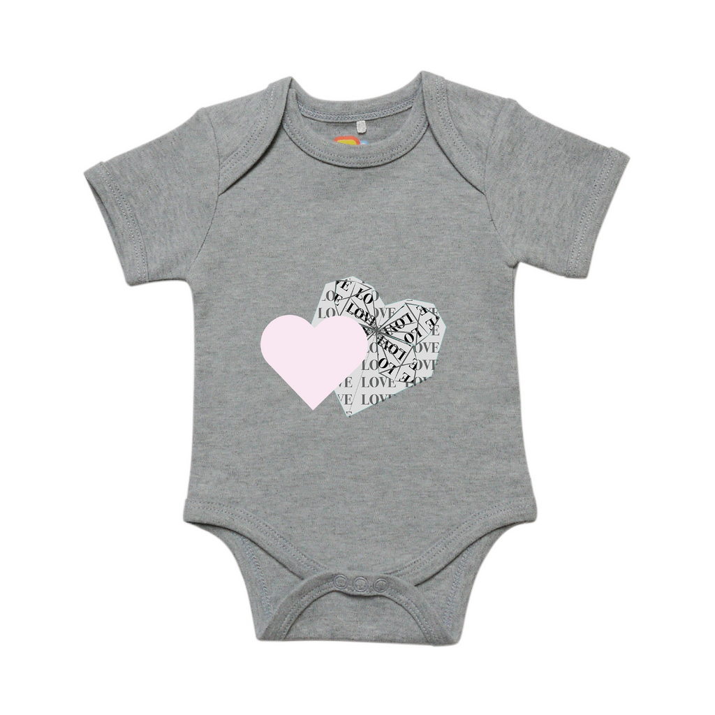 Overlapping Hearts Baby Bodysuit