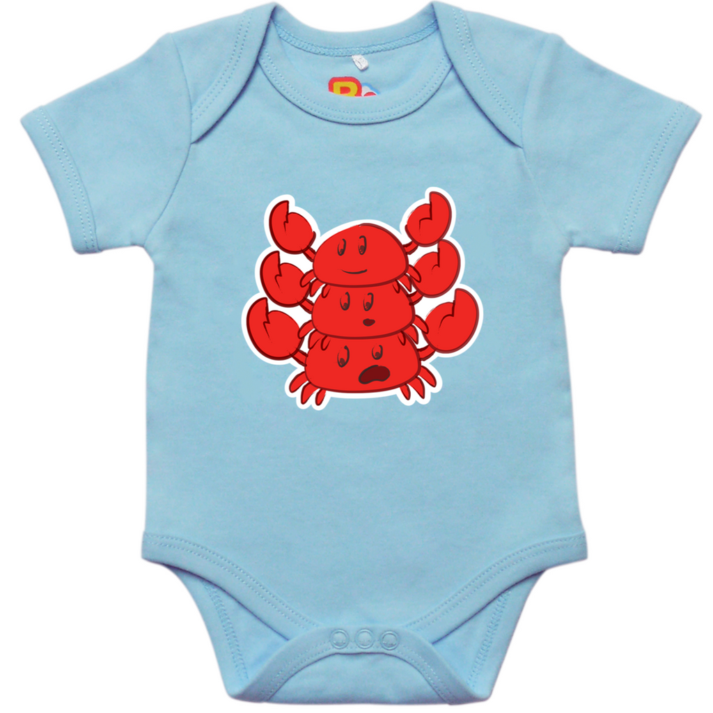 Stacked Crabs Baby Bodysuit