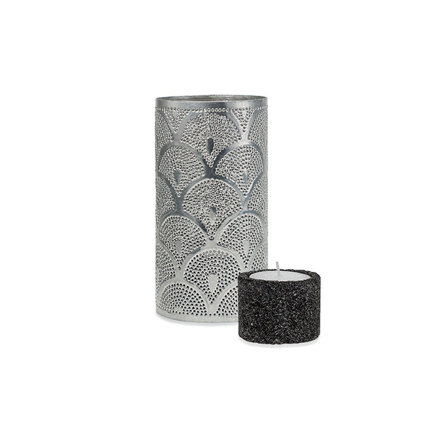 Small Illumination Tin and Lava Stone Tea Light Holder – PEACOCK