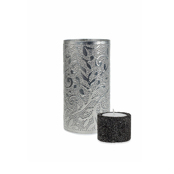Small Illumination Tin and Lava Stone Tea Light Holder – VINE