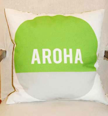 Aroha Cushion Cover - Green/Grey