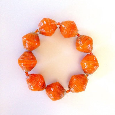 Chunky Bead Bracelet - Orange